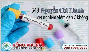 548 Nguyễn Chí Thanh Có Xét Nghiệm Hcv Không