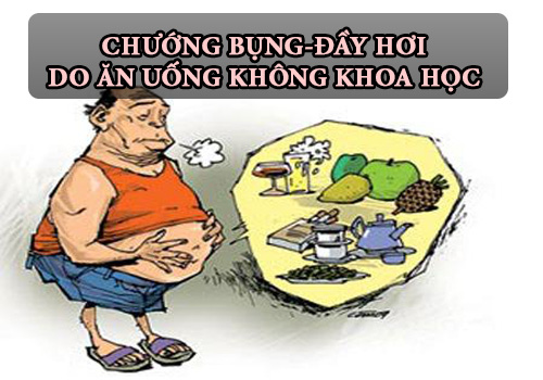 Nguyên nhân chướng bụng do ăn uống