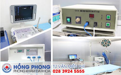 Thiết bị điều trị tại Phòng khám Đa khoa Hồng Phong