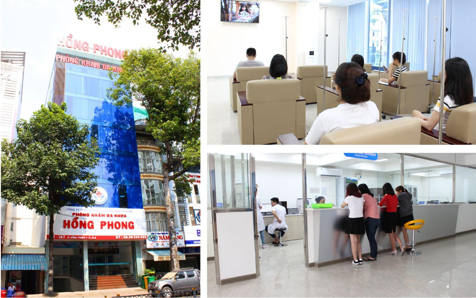 Môi trường khám chữa bệnh tại phòng khám đa khoa Hồng Phong